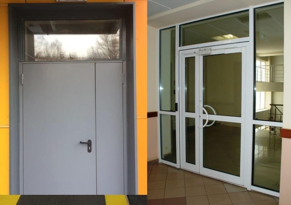 Противопожарная дверь с фрамугой