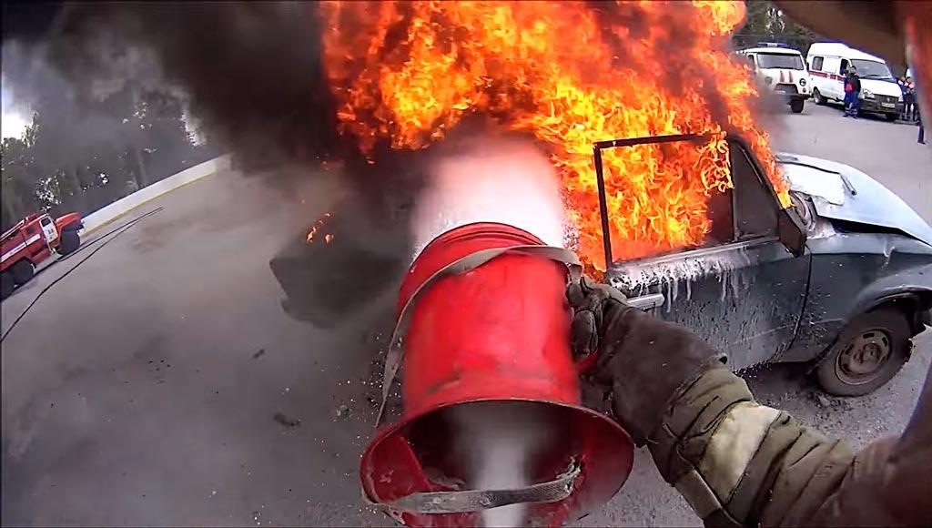 Тушение пожара ГПС-600