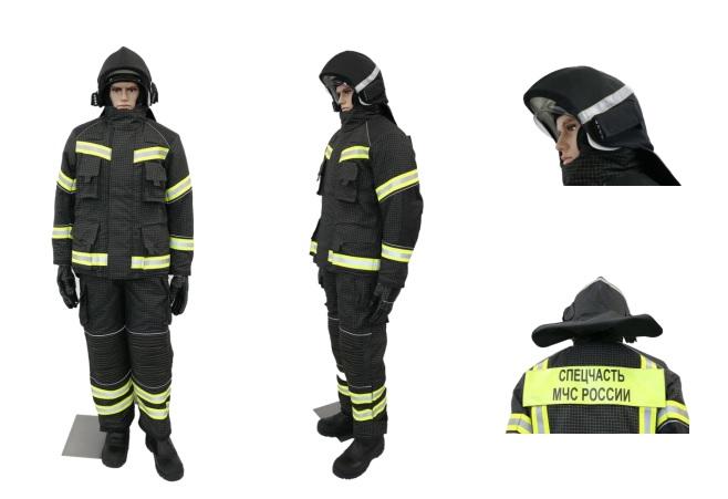 Боевая одежда пожарного для службы пожаротушения