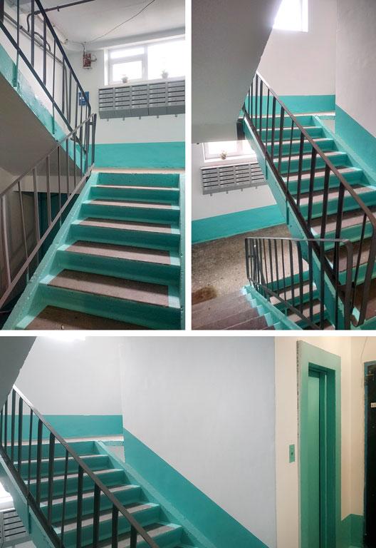 Внутренняя лестница в лестничной клетке