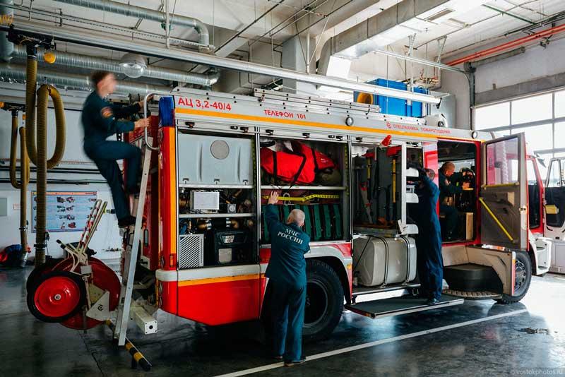 Обеспечения готовности пожарной техники