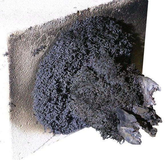 Терморасширяющийся герметик после воздействия огня