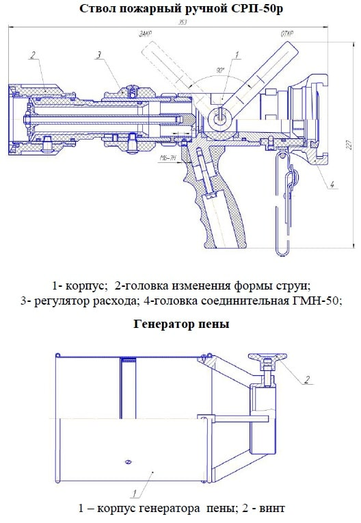 Конструкция ствола СРП-50Р