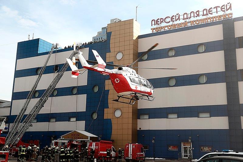 Пожар в здании ТК Персей