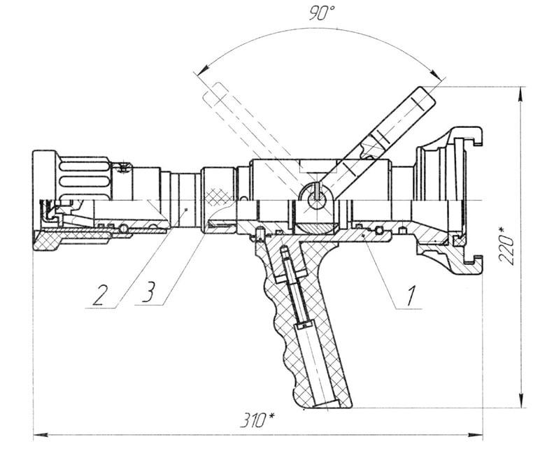 Устройство и габариты ствола СРП-50
