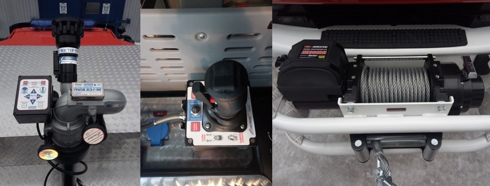 Лафетный ствол и пульт управления