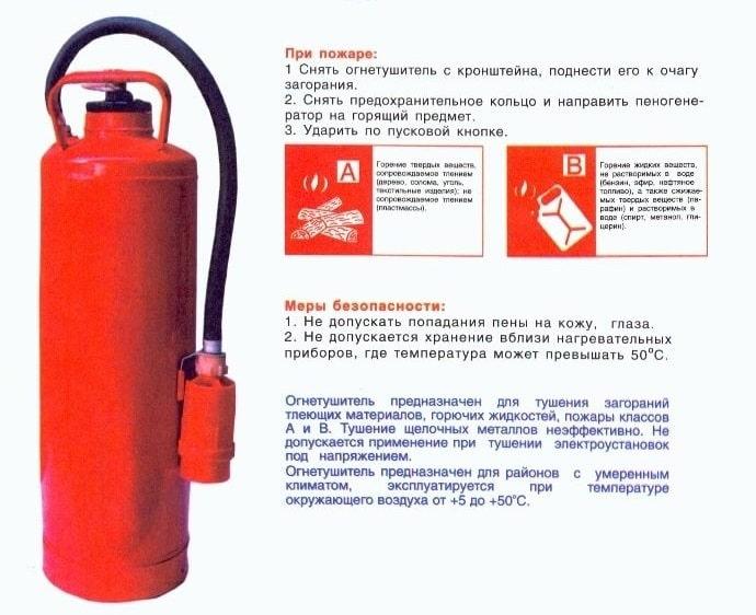 ОВП-10 огнетушитель описание