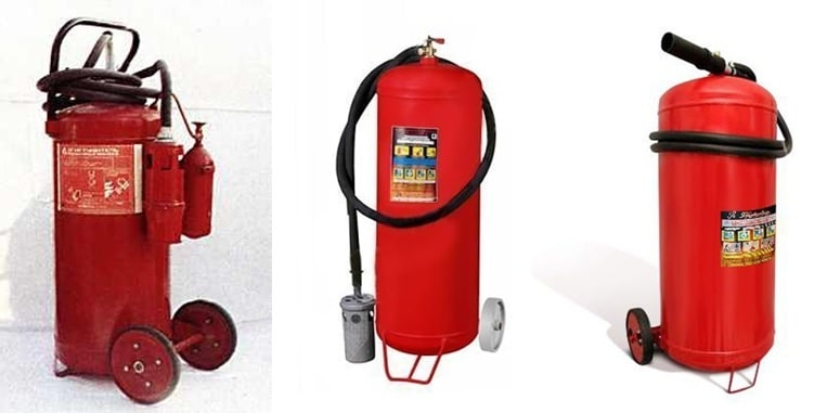 Огнетушитель ОВП-100 модели