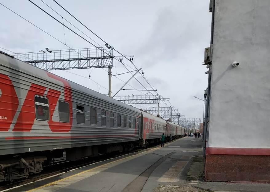 Вагоны пассажирского поезда