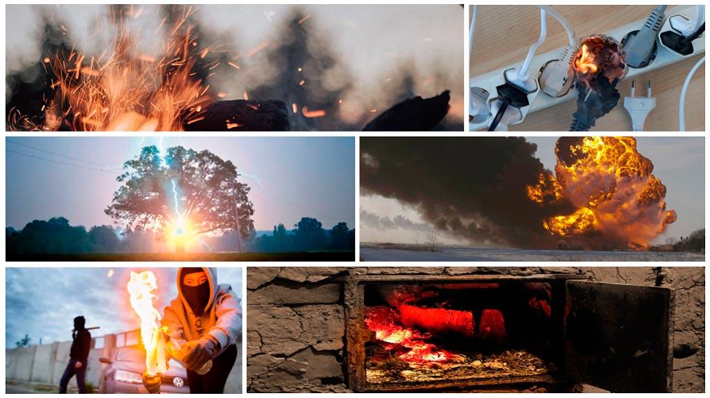 Основные причины пожаров и возгораний