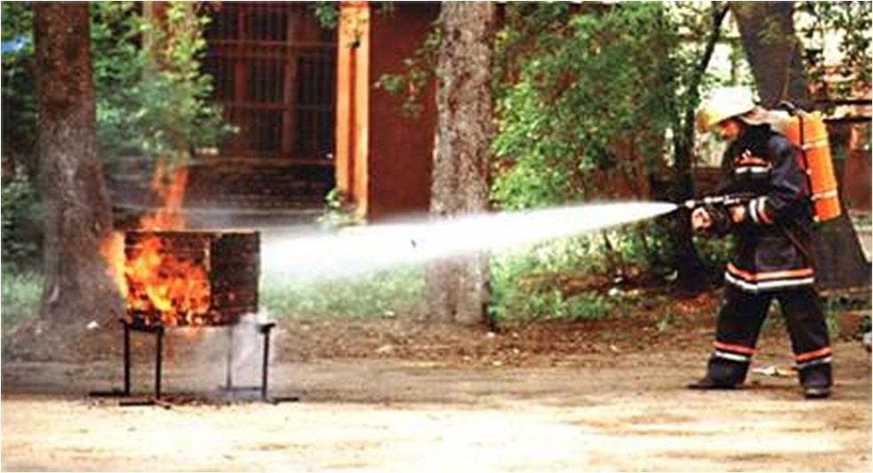 Подача воды из установки ИГЛА-1-0,4