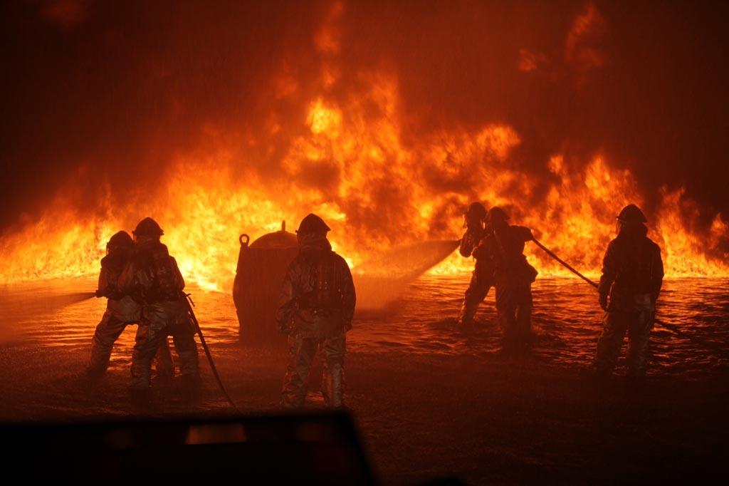 Тушение очага пожара