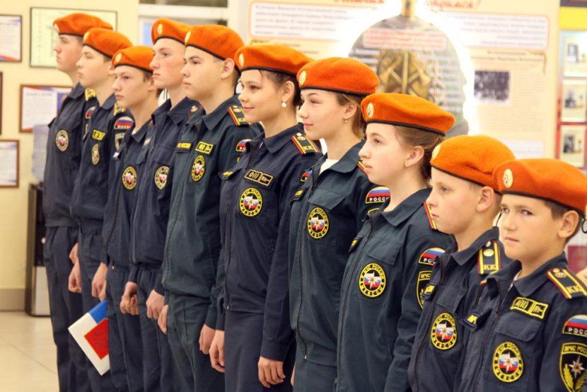 Школьники Новосибирской области приняты в кадеты МЧС России