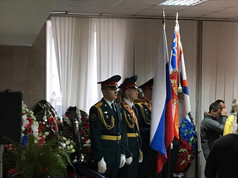 В Москве прошла церемония прощания с легендарным пожарным Виктором Ивановичем Климкиным