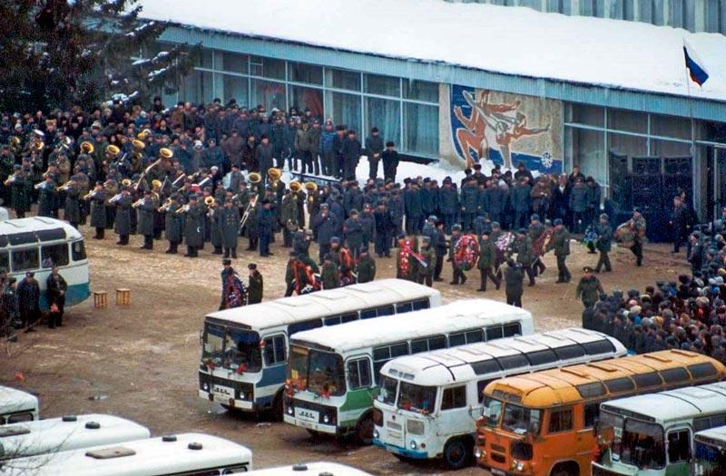 Похороны сотрудников Самарского УВД