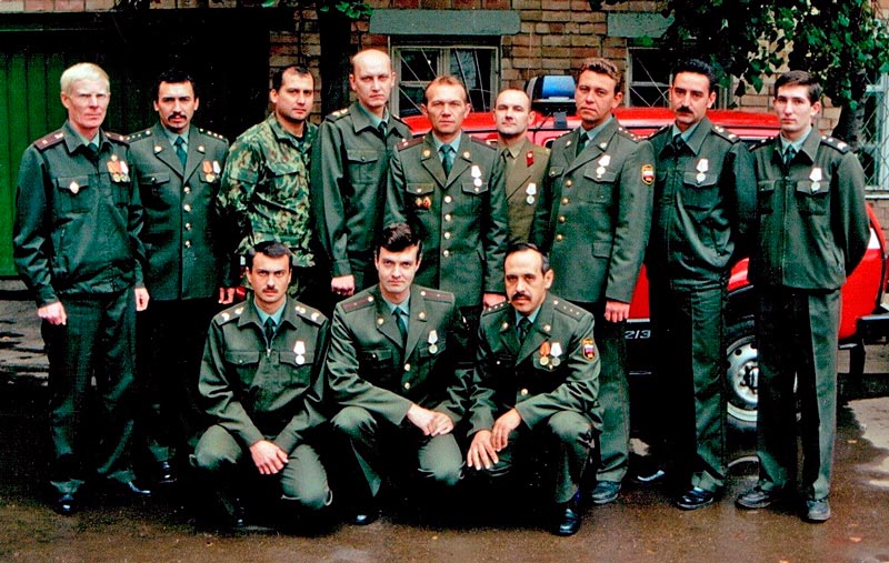 Пожарные тушившие УВД Самарской области