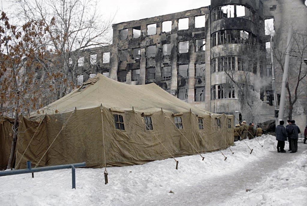 Здание Самарского УВД 11 февраля 1999 года