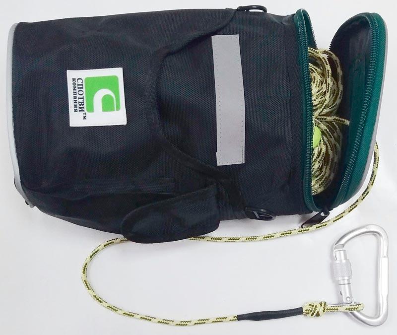 Направляющий трос звена ГДЗС в сумке