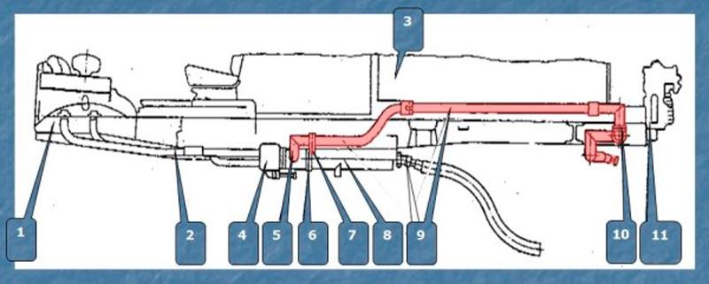 Система выпуска отработавших газов АЦ-40(431410)63Б