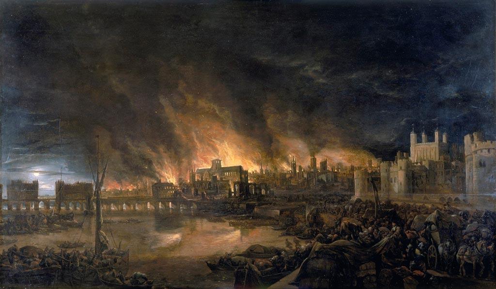 Великий лондонский пожар 4 сентября 1666 года