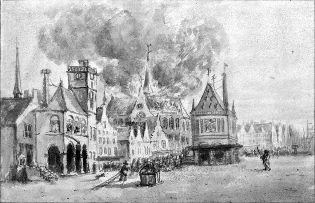 Пожары в Амстердаме