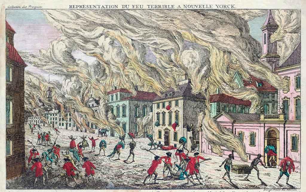 Пожар в Нью-Йорке 1776 год