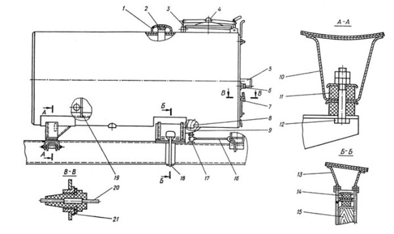 Схема цистерны АЦ-40(431410)63Б
