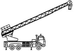 АЛ оборудованная люлькой на вершине и лифтом