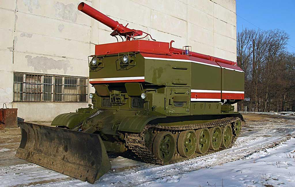 Гусеничная пожарная машина ГПМ-54-01