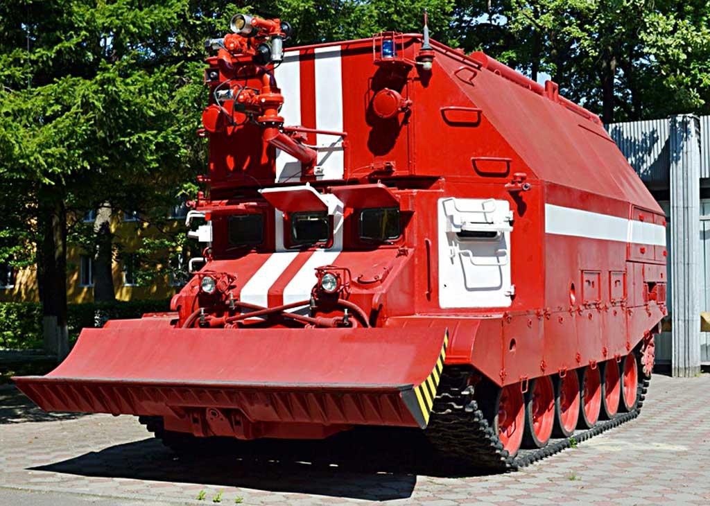 Гусеничная пожарная мишина ГПМ-72