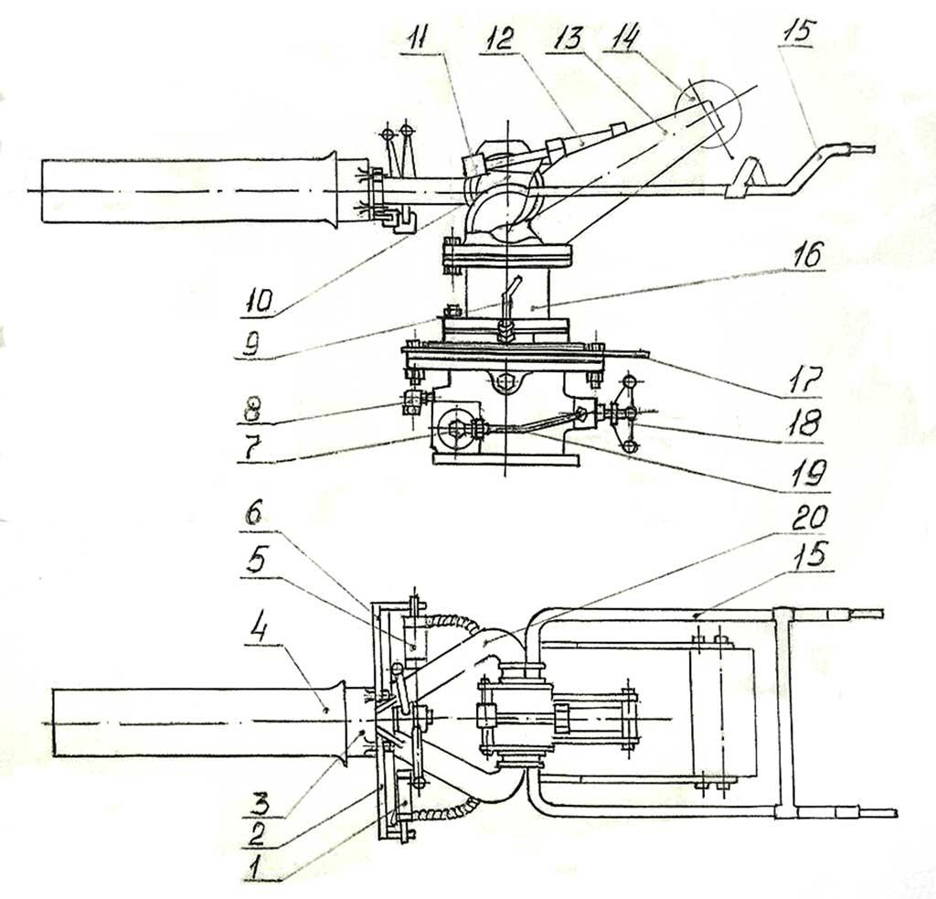 Комбинированный лафетный ствол