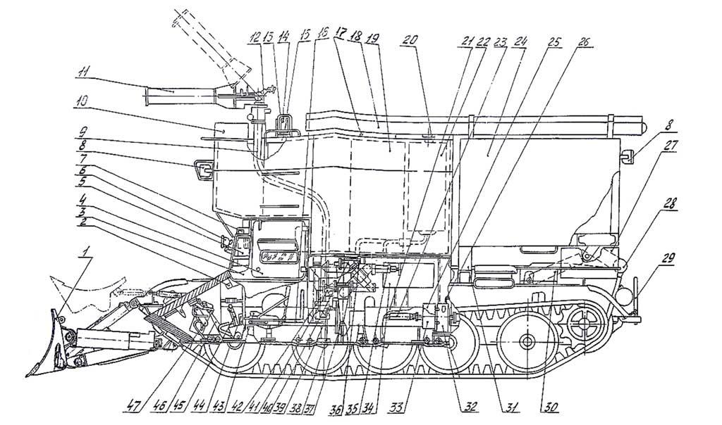Продольный разрез ГПМ-54-01