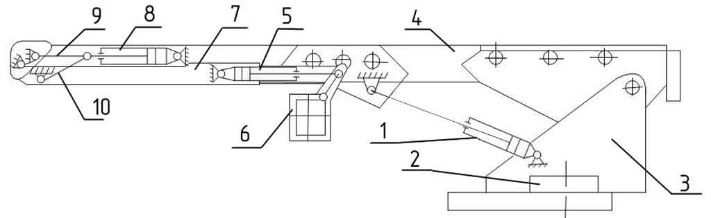 Схема подъема и выдвигания люльки