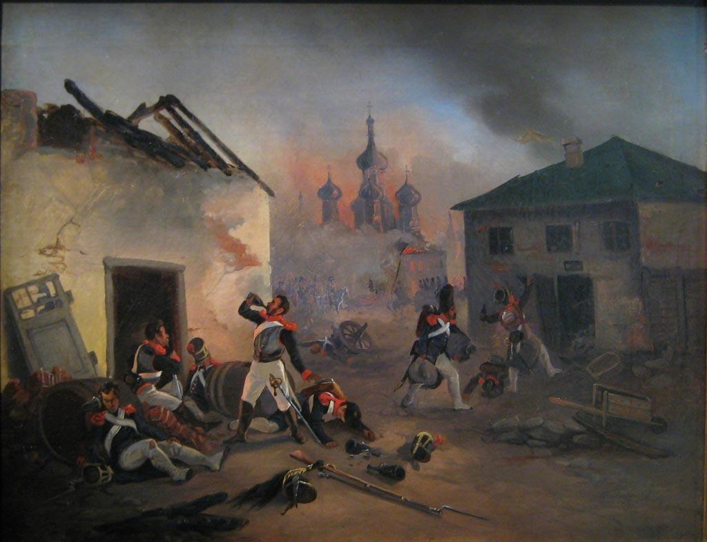Пьющие французские солдаты