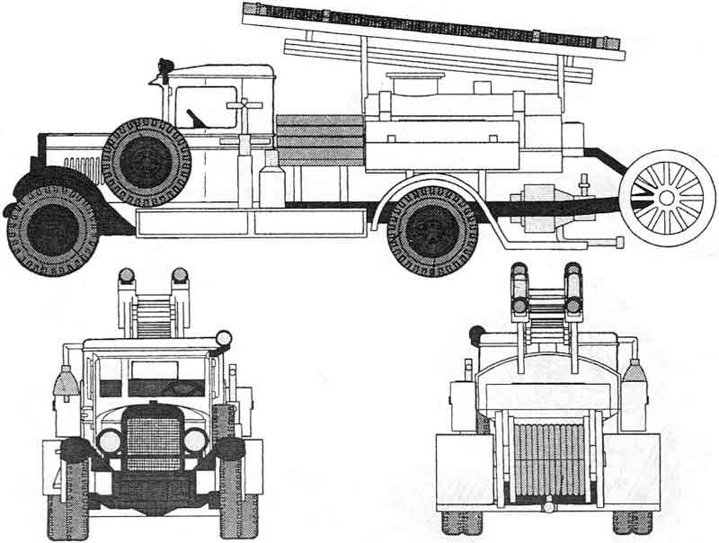 Схема автоцистерны ПМЗ-2