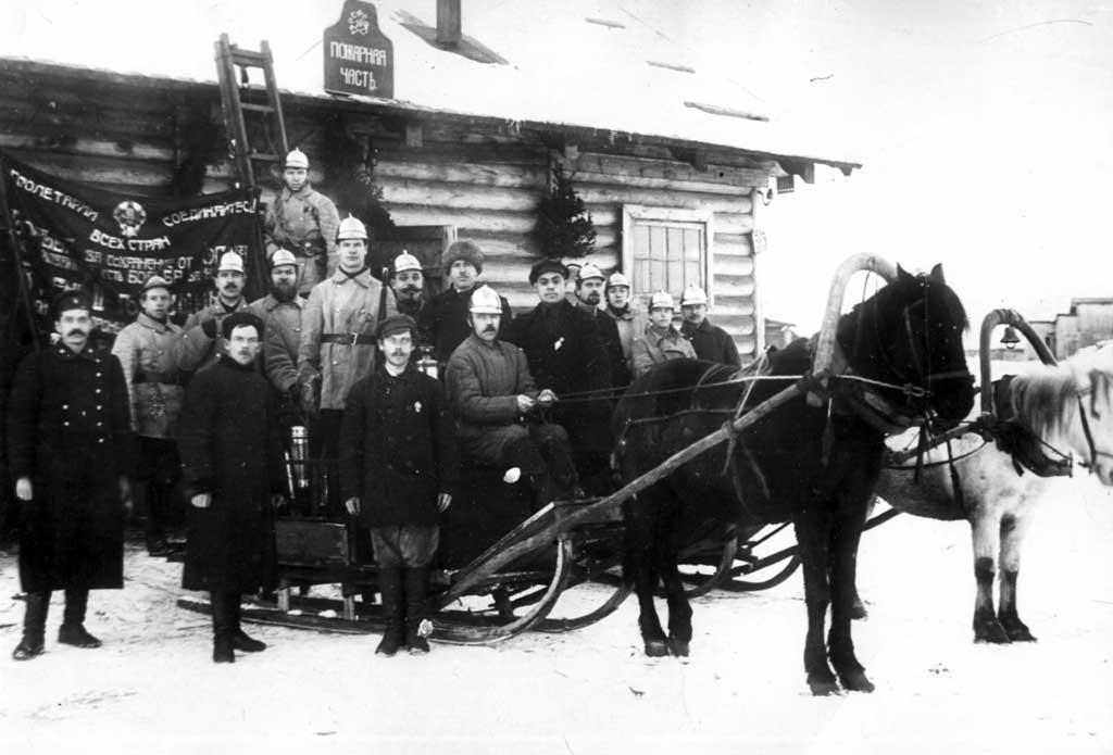 Пожарная команда станции Сорока