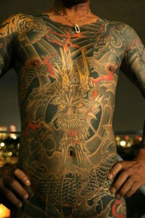 Татуировка на все тело по мотивам традиционных татуировок хикеси