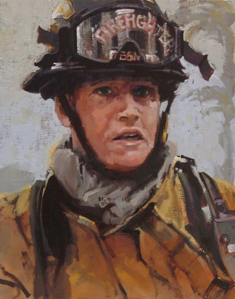 Портрет пожарного Джереми Слокума