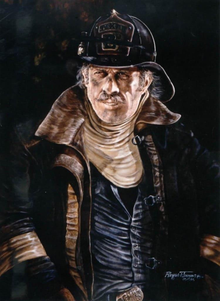 Портрет пожарного США