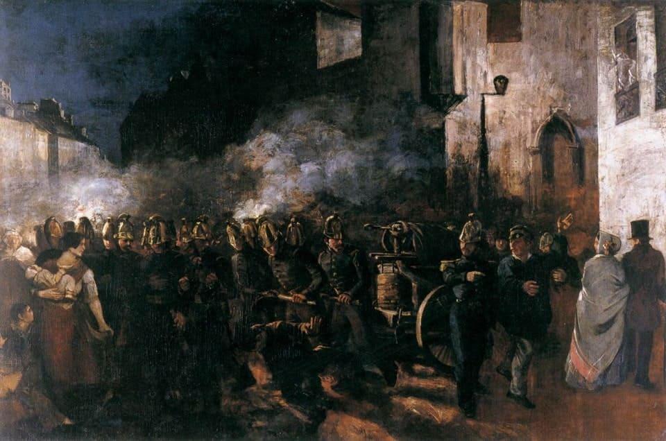 Пожарные бегут на пожар