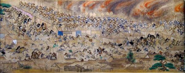 Великий пожар Мэйрэки в Эдо