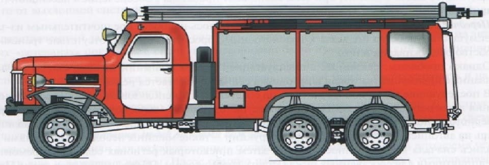 Автомобиль химпенного тушения шасси ЗИС151