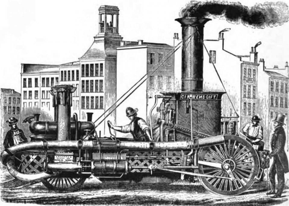Паровая пожарная машина М. Латта, 1854 год