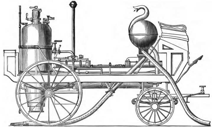 Первая построенная паровая пожарная машина - Лондон, 1829, Novelty