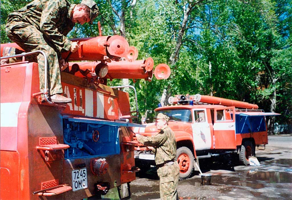 Подготовка техники к ТО 1995 год