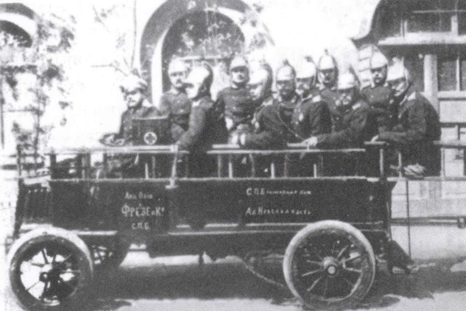 Пожарный автомобиль Фрезе 1904 год