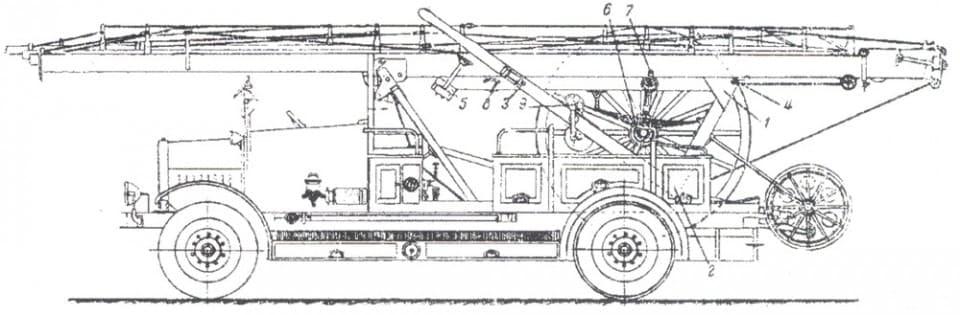 Съемная механическая лестница ЛПО на шасси Я-3