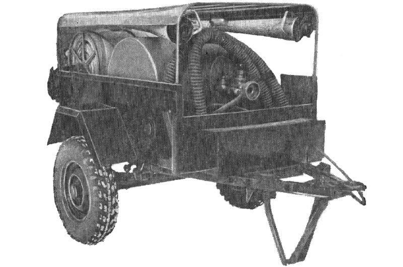 Цистерно-рукавный прицеп ЦРП-20 (704)