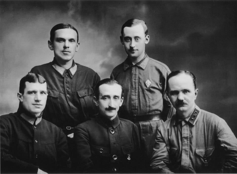 Группа руководителей Ленинградского пожарного отдела 8 августа 1925 года