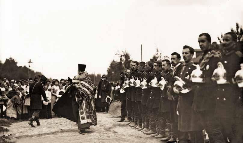 Молебен в честь юбилея Парголовского Пожарного Общества 1900 г.